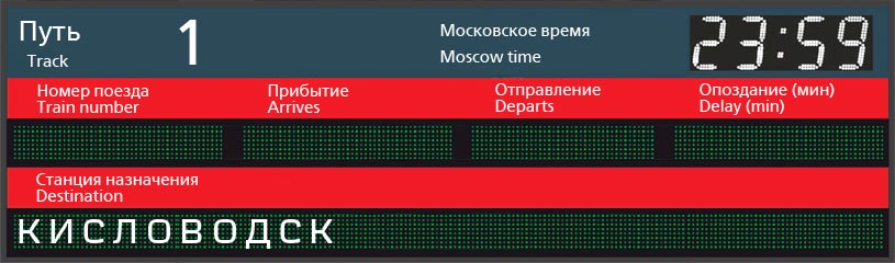 Отправление поездов по станции Симферополь в Кисловодск