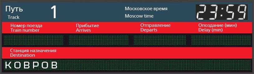 Отправление поездов по станции Симферополь в Ковров