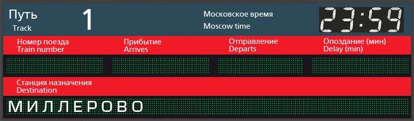 Отправление поездов по станции Севастополь в Миллерово
