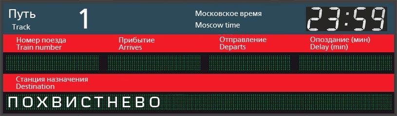 Отправление поездов по станции Симферополь в Похвистнево