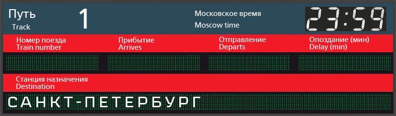 Отправление поездов по станции Севастополь в Санкт-Петербург